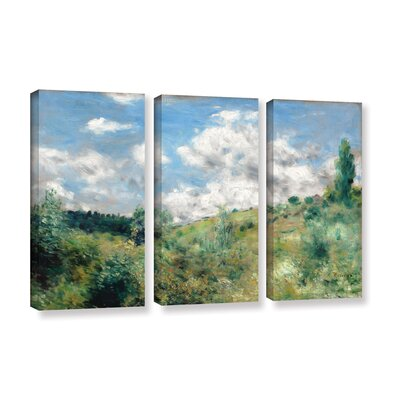 'The Gust Of Wind, 1872' by Pierre-Auguste Renoir 3 Piece Painting Print on Wrapped