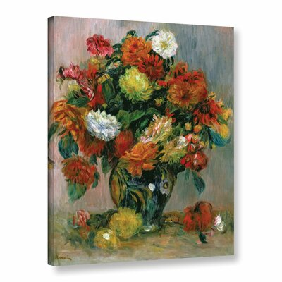 'Vase Of Flowers, 1884' by Pierre-Auguste Renoir Painting Print on Wrapped Canvas