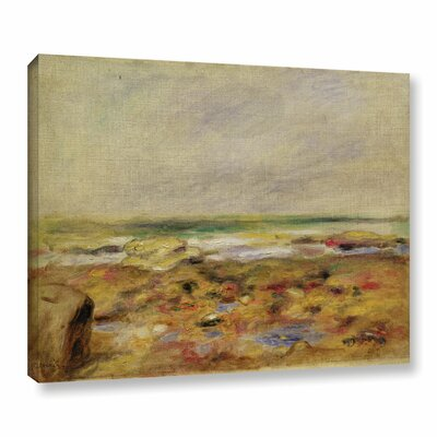 """'The Beach At Varangeville, 1880' by Pierre-Auguste Renoir Painting Print on Wrapped Canvas Size: 8"""" H x 10"""" W x 2"""" D CHLH8328 34128983"""