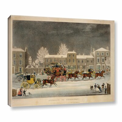 The Approach To Christmas by James Pollard Painting Print on Wrapped Canvas