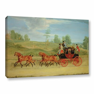 The Manchester And London Royal Mail Coach by James Pollard Painting Print on Wrapped Canvas