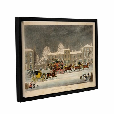 The Approach To Christmas by James Pollard Framed Painting Print