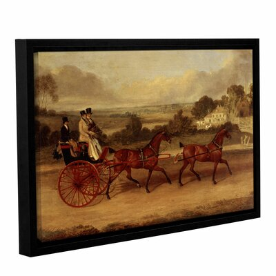 'Coaching Scene' Framed Painting Print Size: 12