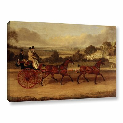 'Coaching Scene' Painting Print on Wrapped Canvas Size: 12