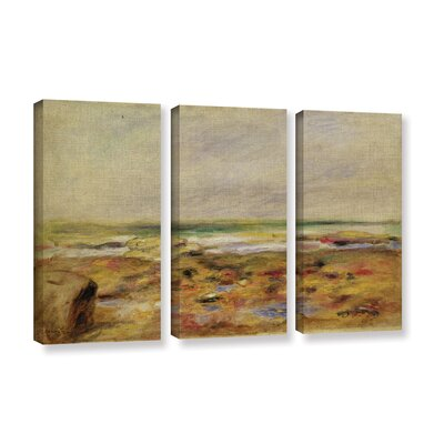 """'The Beach At Martigues, 1888' by Pierre-Auguste Renoir 3 Piece Painting Print on Wrapped Canvas Set Size: 36"""" H x 24"""" W x 2"""" D CHLH8343 34129051"""