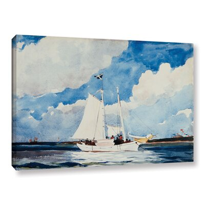 'Fishing Schooner, Nassau, 1898-99' by Winslow Homer Painting Print on Wrapped Canvas