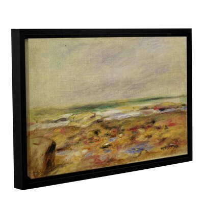 """'The Beach At Martigues, 1888' by Pierre-Auguste Renoir Framed Painting Print Size: 8"""" H x 12"""" W x 2"""" D CHLH8351 34129082"""