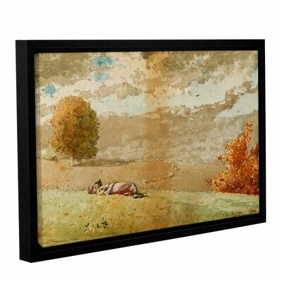 'Daydreaming, 1880' by Winslow Homer Framed Painting Print