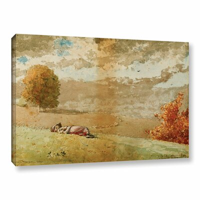 'Daydreaming, 1880' by Winslow Homer Painting Print on Wrapped Canvas