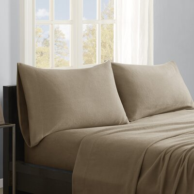 Butlerville 4 Piece Micro Fleece Sheet Set Color: Brown, Size: Cal King