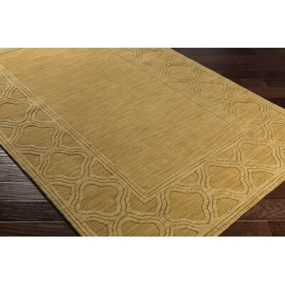 Essex Mustard Yellow Area Rug Rug Size: 33 x 53