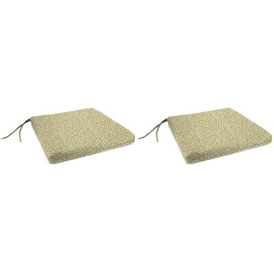 Indoor Chair Cushion Fabric: Coral Curl Sandcastle