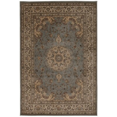 Abernathy Beige/Blue Area Rug Rug Size: Rectangle 39 x 59