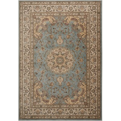 Abernathy Beige/Blue Area Rug Rug Size: Rectangle 5 x 7