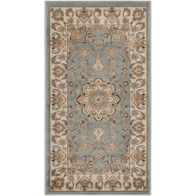 Abernathy Beige/Blue Area Rug Rug Size: Rectangle 11 x 33