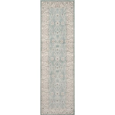Phoebe Blue Area Rug Rug Size: Rectangle 53 x 76