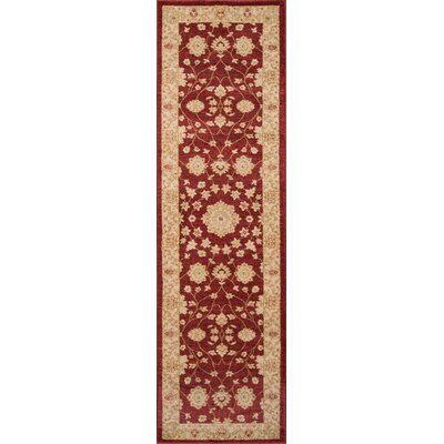 Phoebe Red Area Rug Rug Size: Rectangle 93 x 126