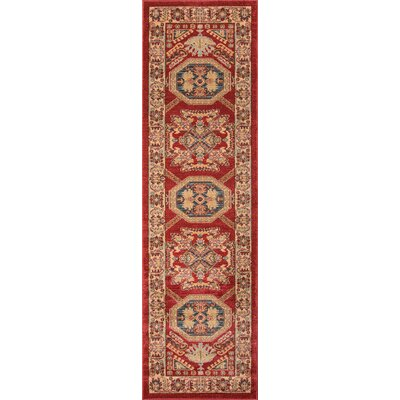 Miller Red Area Rug Rug Size: 311 x 57