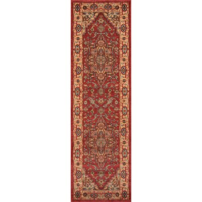 Miller Red Area Rug Rug Size: Rectangle 710 x 910