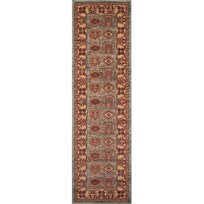 Miller Red Area Rug Rug Size: 53 x 76