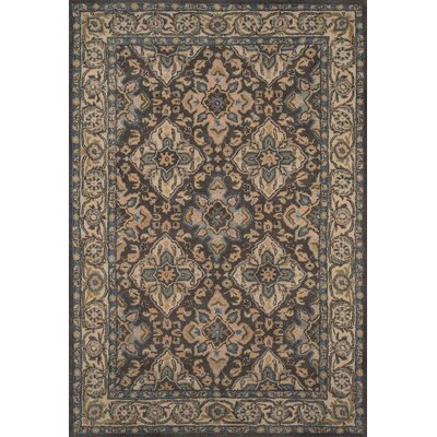 Salazar Hand-Tufted Gray/Beige Area Rug Rug Size: Rectangle 36 x 56
