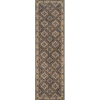 Norah Hand-Tufted Gray/Beige Area Rug Rug Size: Runner 23 x 8