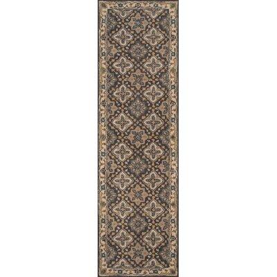 Salazar Hand-Tufted Gray/Beige Area Rug Rug Size: Runner 23 x 8