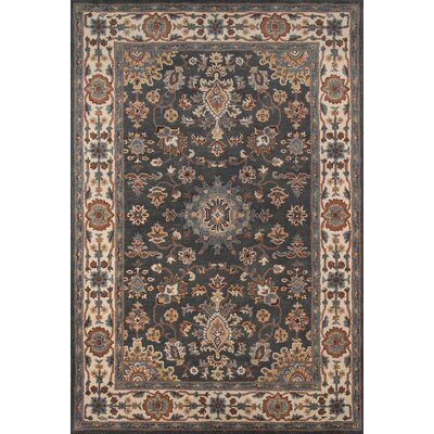 Norah Hand-Tufted Gray/Brown Area Rug Rug Size: 36 x 56