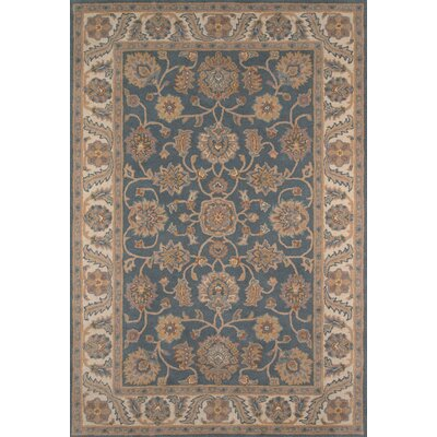 Salazar Hand-Tufted Blue/Beige Area Rug Rug Size: Rectangle 5 x 76