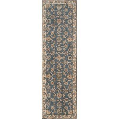 Salazar Hand-Tufted Blue/Beige Area Rug Rug Size: Runner 23 x 8