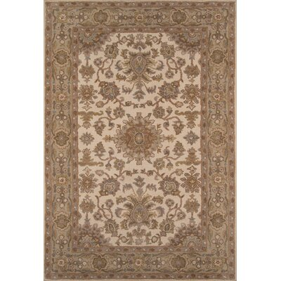 Salazar Hand-Tufted Biege Area Rug Rug Size: Rectangle 5 x 76