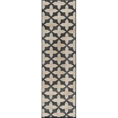 Craine Charcoal Area Rug Rug Size: Rectangle 23 x 46