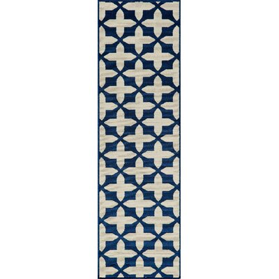 Craine Navy Indoor/Outdoor Area Rug Rug Size: 18 x 37