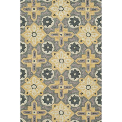 Ophelia Hand-Hooked Yellow Area Rug Rug Size: Rectangle 2 x 3