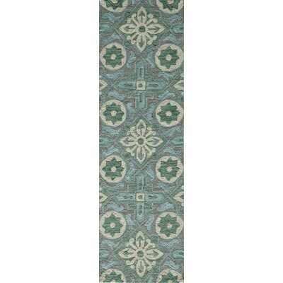 Ophelia Hand-Hooked Gray Area Rug Rug Size: Rectangle 36 x 56