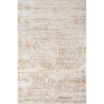 Hoagland Beige Area Rug Rug Size: Rectangle 86 x 116