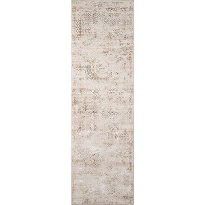 Hoagland Beige Area Rug Rug Size: Runner 23 x 76