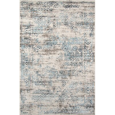 Hoagland Blue Area Rug Rug Size: Rectangle 86 x 116