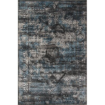 Hoagland Charcoal Area Rug Rug Size: Rectangle 2 x 3