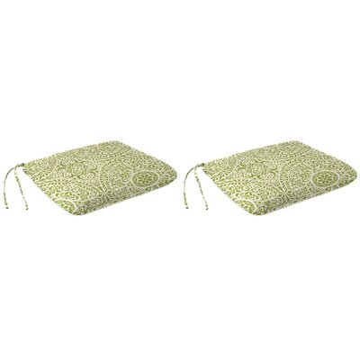 Indoor Dining Chair Cushion Fabric: Tachenda Palm