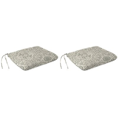 Indoor Dining Chair Cushion Fabric: Tachenda Greystone
