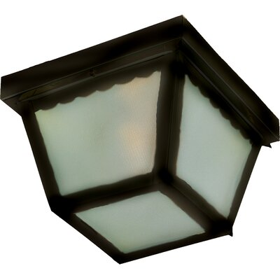 Pauline 1-Light Flush Mount Finish: Black, Size: 5 H x 9.5 W x 9.5 D