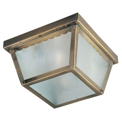 Pauline 1-Light Flush Mount Finish: Black, Size: 5 H x 7.5 W x 7.5 D