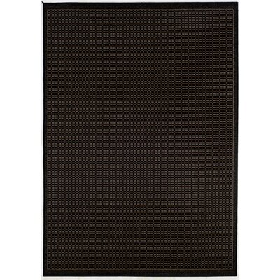 Ariadne Saddle Stitch Hand-Woven Black Cocoa Indoor/Outdoor Area Rug Rug Size: 86 x 13