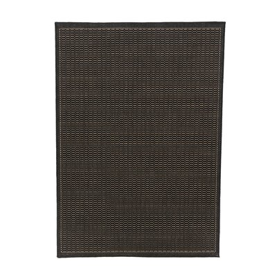Ariadne Saddle Stitch Hand-Woven Black Cocoa Indoor/Outdoor Area Rug Rug Size: 510 x 92