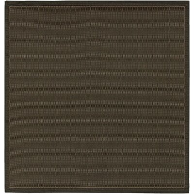 Ariadne Saddle Stitch Hand-Woven Black Cocoa Indoor/Outdoor Area Rug Rug Size: Square 86