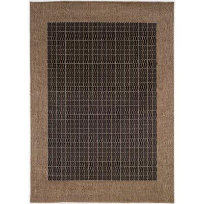 Ariadne Checkered Field Black/Cocoa Area Rug