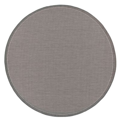 Ariadne Saddle Stitch Gray Indoor/Outdoor Area Rug Rug Size: Round 76