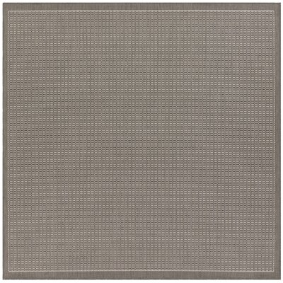 Ariadne Saddle Stitch Gray Indoor/Outdoor Area Rug Rug Size: Square 86