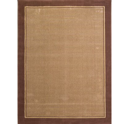 Cole Brown/Tan Area Rug Rug Size: Rectangle 53 x 72